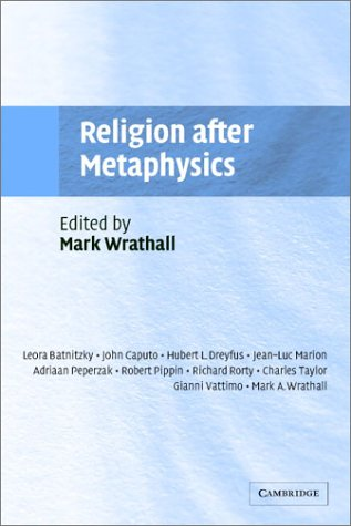 Religion after Metaphysics   2003 9780521531962 Front Cover