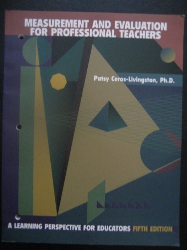 MEASUREMENT+EVAL.F/PROF... 5th 2002 9780536634962 Front Cover