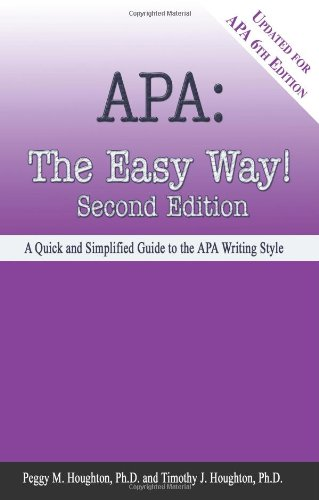 Apa The Easy Way! 6th 2009 9780923568962 Front Cover