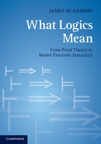 What Logics Mean From Proof Theory to Model-Theoretic Semantics  2013 9781107611962 Front Cover