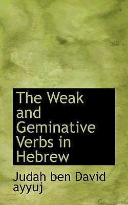 Weak and Geminative Verbs in Hebrew  N/A 9781116802962 Front Cover