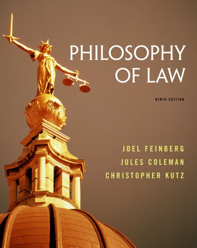 Philosophy of Law  9th 2014 edition cover