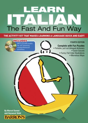 Learn Italian the Fast and Fun Way with MP3 CD The Activity Kit That Makes Learning a Language Quick and Easy! 4th 2014 (Revised) edition cover