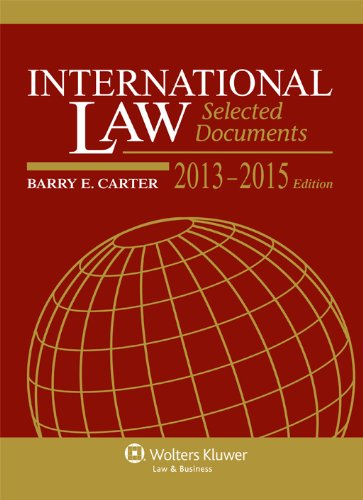 International Law, 2013-2015: Selected Documents  2013 edition cover
