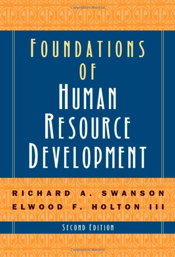 Foundations of Human Resource Development  2nd 2009 9781576754962 Front Cover