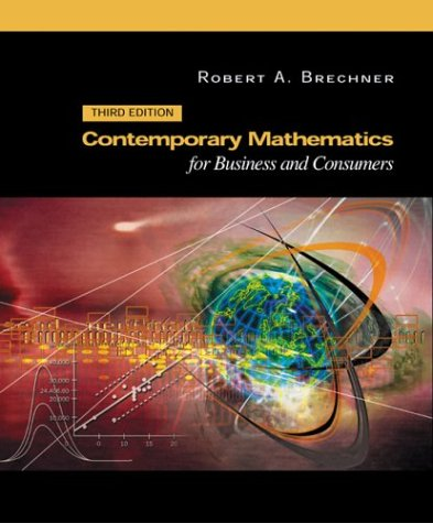 Contemporary Mathematics for Business and Consumers  3rd 2003 9780030353963 Front Cover