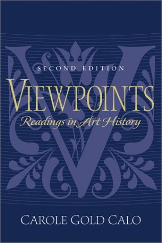 Viewpoints Readings in Art History 2nd 2001 edition cover