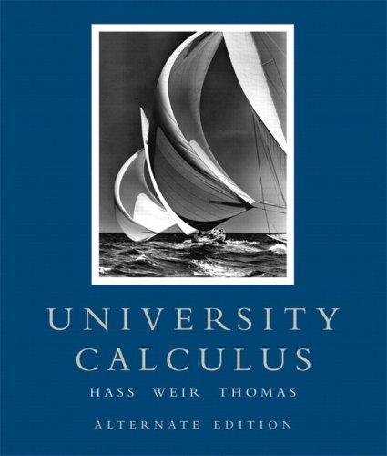 University Calculus   2008 (Alternate) edition cover