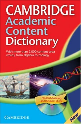 Cambridge Academic Content Dictionary   2007 edition cover