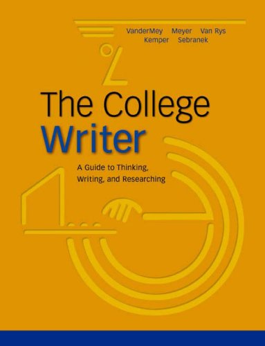 College Writer Paper  2004 9780618133963 Front Cover