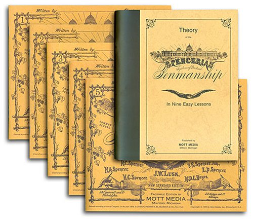 Spencerian Penmanship Set Theory Plus Five Copy Books N/A 9780880620963 Front Cover