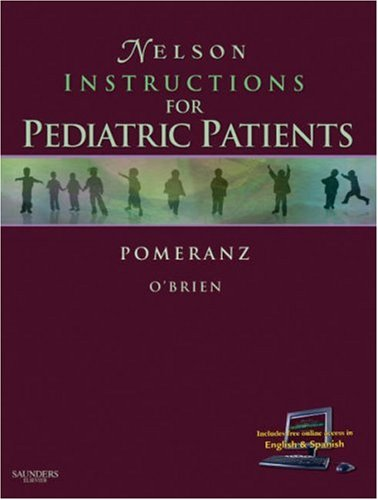 Nelson's Instructions for Pediatric Patients   2007 edition cover