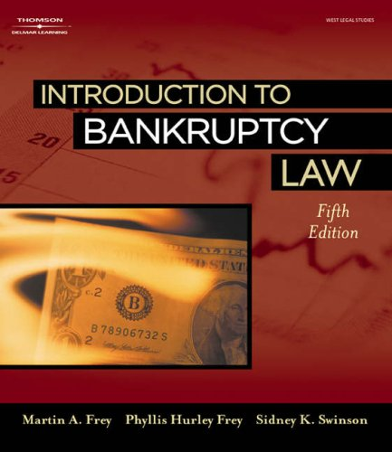 Introduction to Bankruptcy Law  5th 2007 (Revised) edition cover