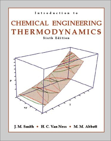 Introduction to Chemical Engineering Thermodynamics  6th 2001 9780072402964 Front Cover