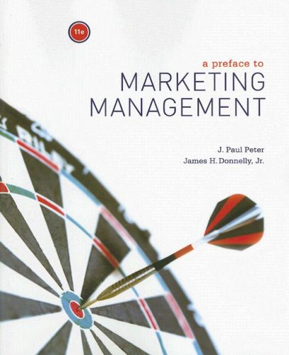 Preface to Marketing Management  11th 2008 edition cover
