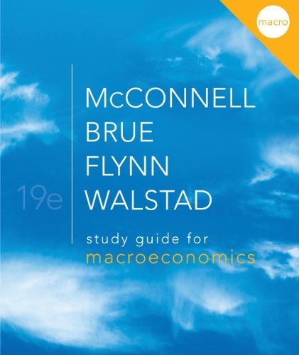Study Guide for Macroeconomics  19th 2012 edition cover