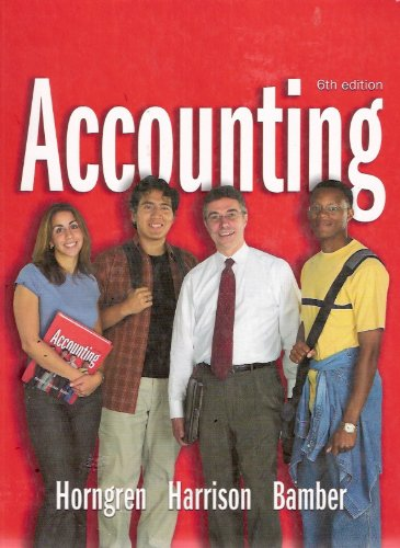 Accounting  6th 2003 edition cover