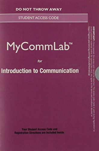 Communication New Mycommunicationlab Standalone Access Card: Principles for a Lifetime  2015 9780133882964 Front Cover