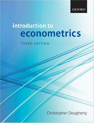 Introduction to Econometrics  3rd 2006 (Revised) edition cover