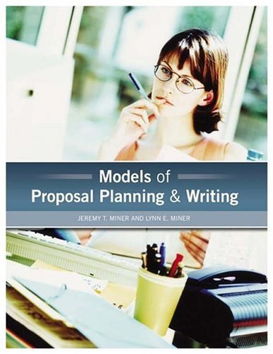 Models of Proposal Planning and Writing   2005 edition cover