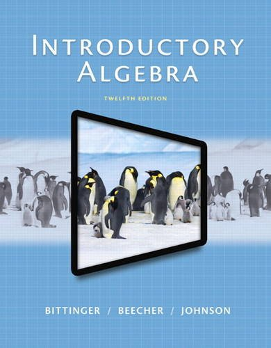 Introductory Algebra  12th 2015 edition cover