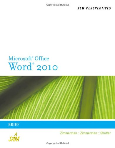 Microsoft� Office Word 2010   2011 (Brief Edition) 9780538748964 Front Cover