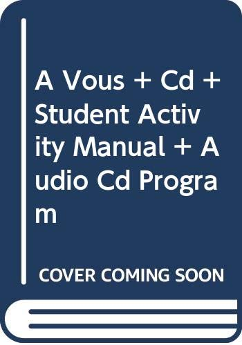 Vous with Cd Plus Student Activity Manual Plus Audio Cd Program   2008 9780618842964 Front Cover