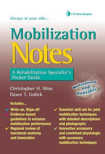 Mobilization Notes A Rehabilitation Specialist's Pocket Guide  2009 edition cover