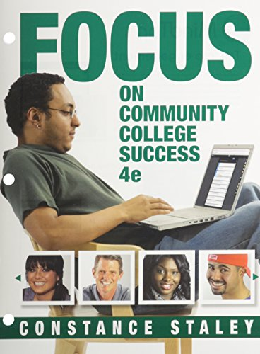 FOCUS on Community College Success  4th 2016 9781305633964 Front Cover