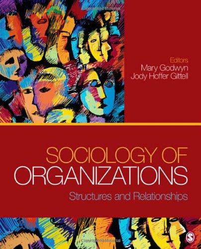Sociology of Organizations Structures and Relationships  2012 edition cover