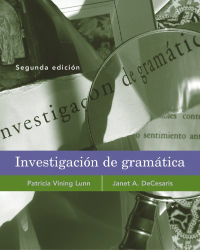 nvestigaci�n de Gram�tica  2nd 2007 (Revised) edition cover