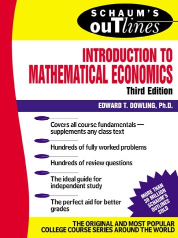 Introduction to Mathematical Economics  3rd 2001 (Revised) edition cover