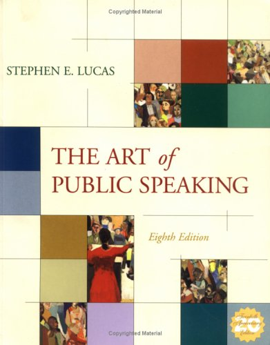 Art of Public Speaking, PowerWeb and Topic Finder 8th 2004 edition cover