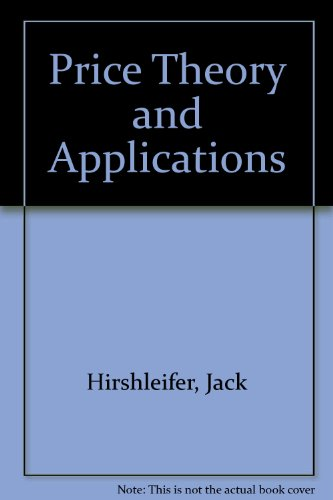 Price, Theory and Applications  5th 9780137142965 Front Cover