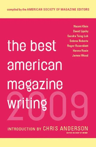 Best American Magazine Writing 2009   2009 9780231147965 Front Cover