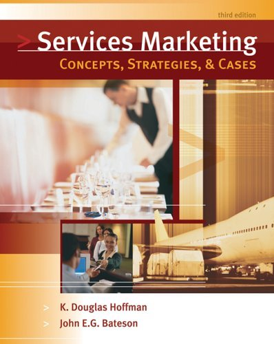 Services Marketing Concepts, Strategies, and Cases 3rd 2006 edition cover