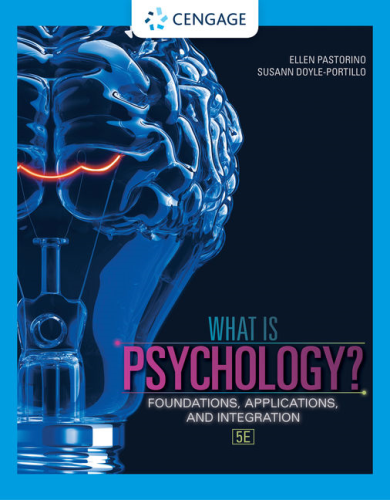 Cover art for What is Psychology?: Foundations, Applications, and Integration, 5th Edition