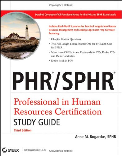 Phr / Sphr Professional in Human Resources Certification 3rd 2009 (Student Manual, Study Guide, etc.) edition cover