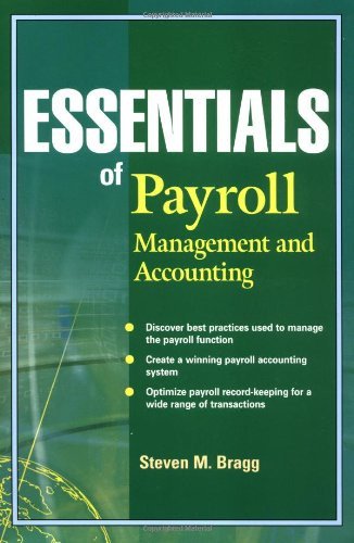 Essentials of Payroll Management and Accounting  2003 9780471264965 Front Cover