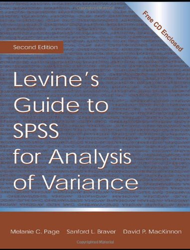Levine's Guide to SPSS for Analysis of Variance  2nd 2003 (Revised) edition cover