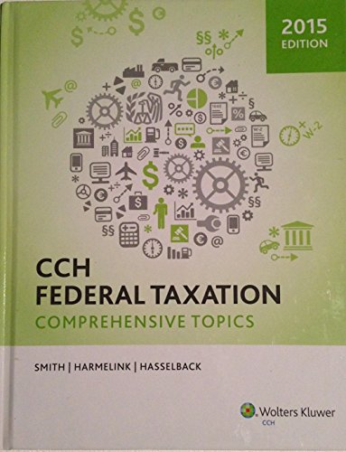 CCH Federal Taxation Comprehensive Topics (2015) N/A edition cover