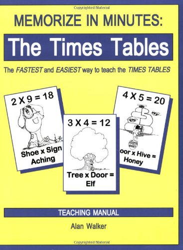 Memorize in Minutes : The Times Tables 2nd 2000 (Revised) 9780965176965 Front Cover