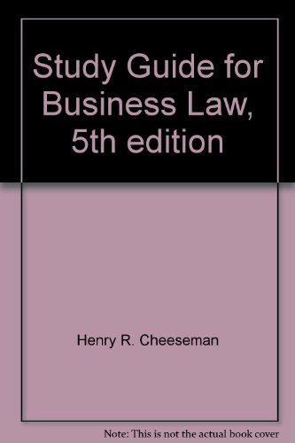 BUSINESS LAW-STD.GDE. 5th 2004 9780131460966 Front Cover