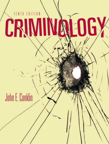 Criminology  10th 2010 9780205608966 Front Cover