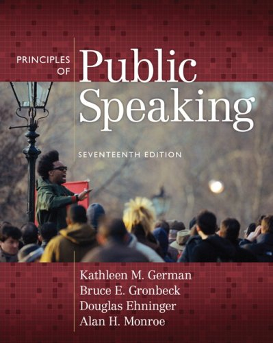Principles of Public Speaking  17th 2010 edition cover