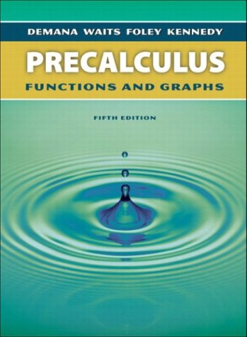 Precalculus Functions and Graphs 5th 2004 (Revised) 9780321131966 Front Cover