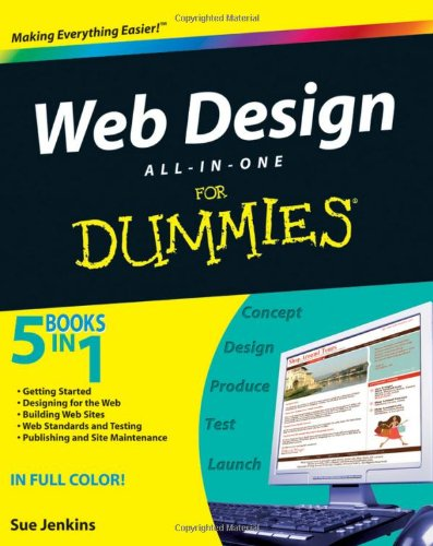 Web Design All-in-One for Dummies   2009 edition cover