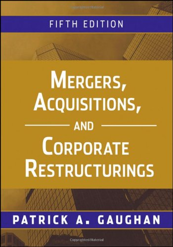 Mergers, Acquisitions, and Corporate Restructurings  5th 2011 edition cover