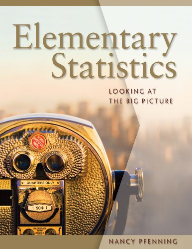 Elementary Statistics Looking at the Big Picture  2011 edition cover