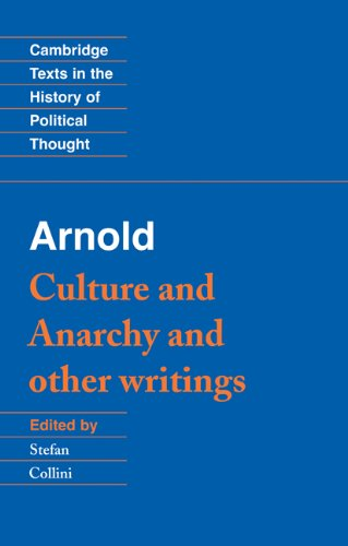 Arnold Culture and Anarchy and Other Writings  1993 edition cover